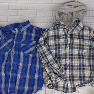 2 Boys 4T Plaid Button-down Shirt